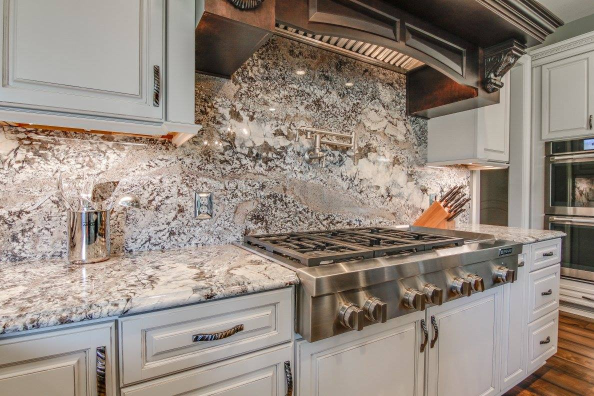 Marble Backsplash With Granite Countertops