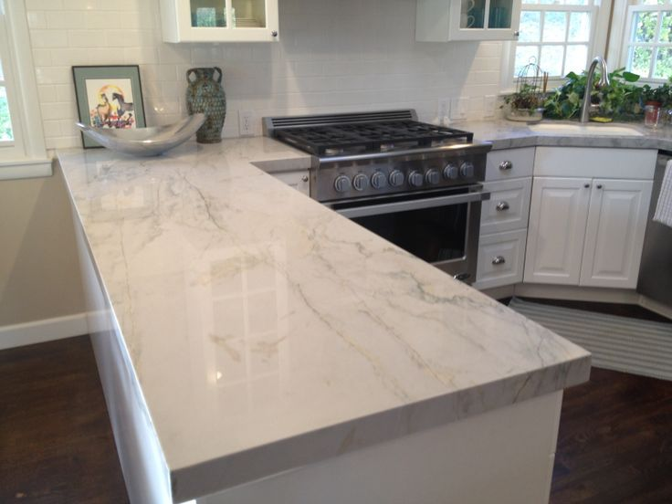 Image of: Marble Look Engineered Quartz Countertops