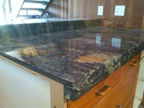 Image of: Marble Tile Countertop Edge