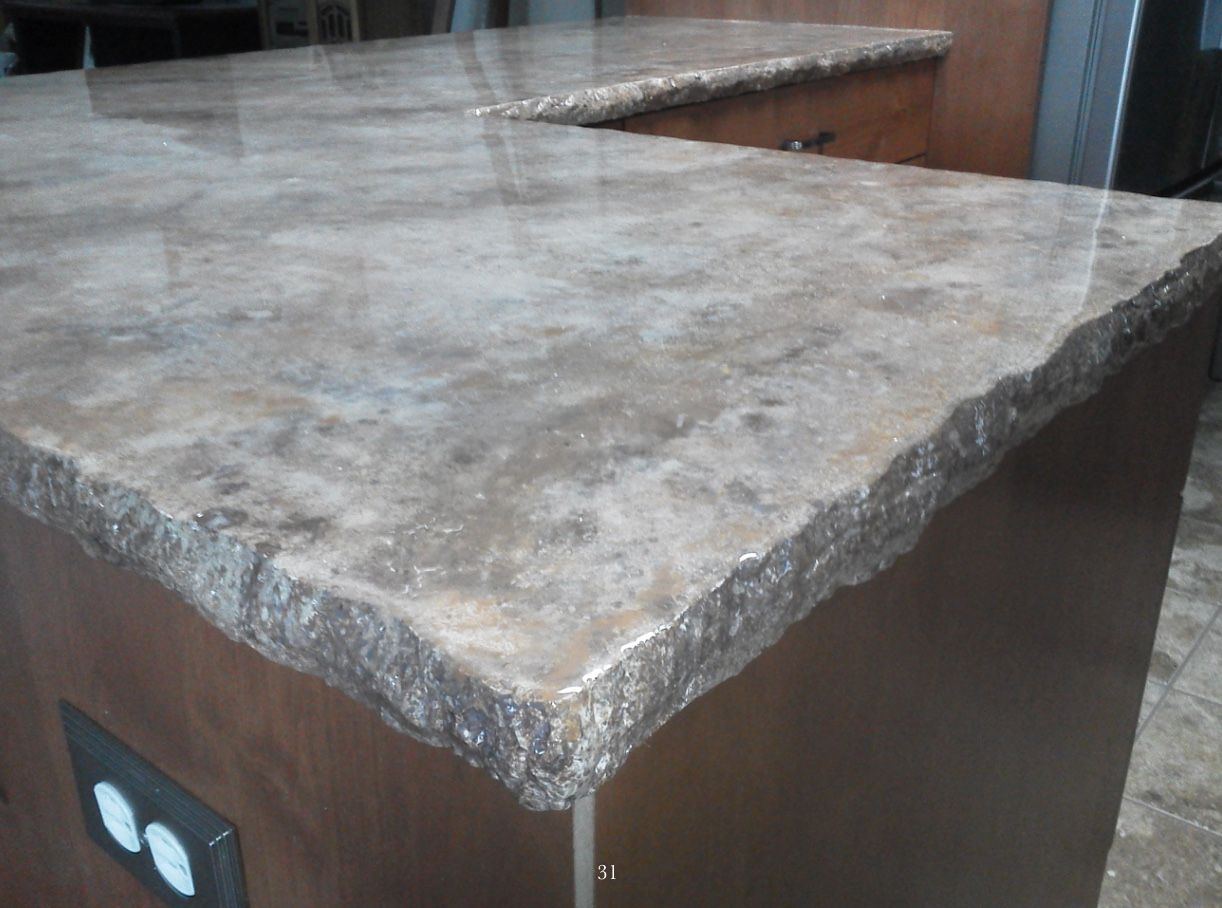 Image of: Marble Tile Countertop Epoxy Grout