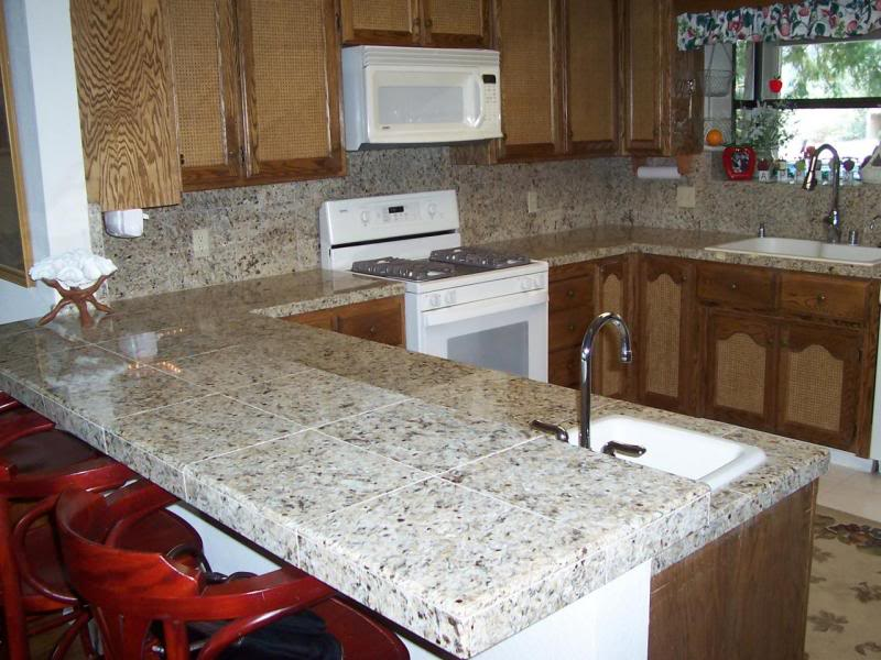 Image of: Marble Tile Countertop Images