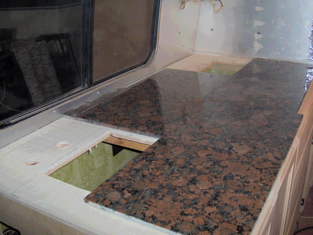 Image of: Marble Tile Countertop Installation