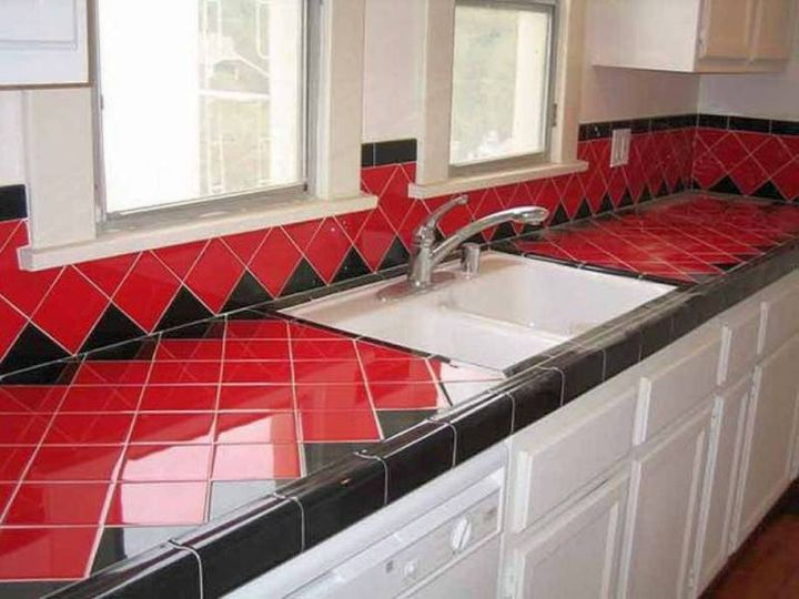 Image of: Modern Tile Countertops