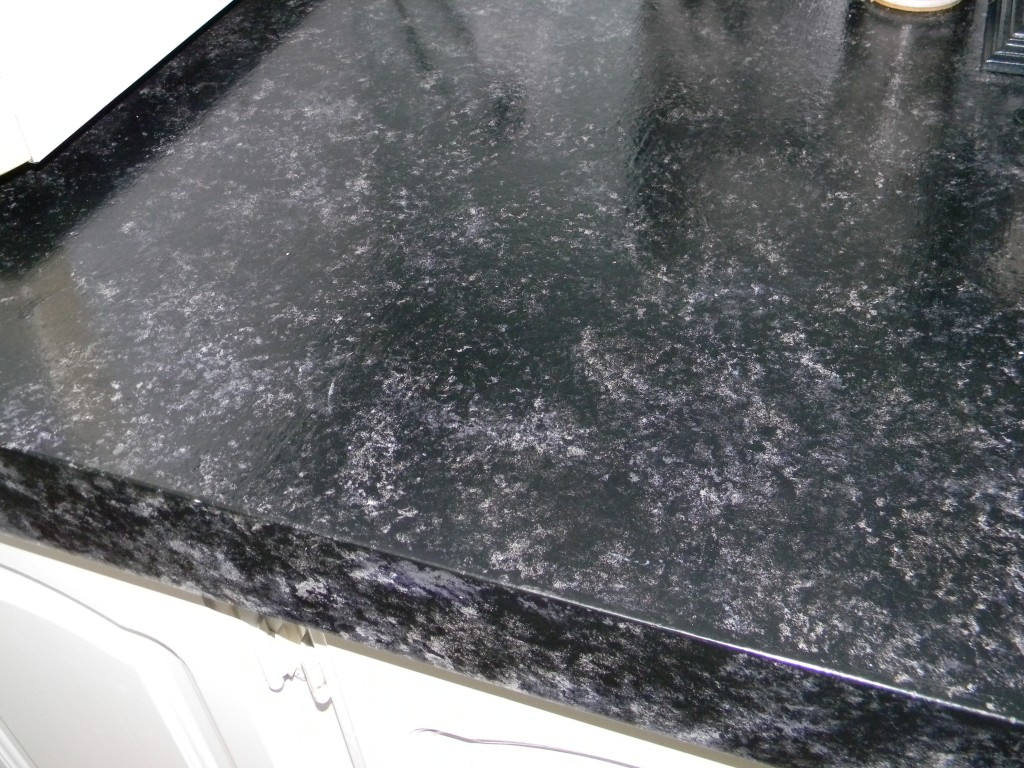 Image of: Painted Faux Granite Countertops