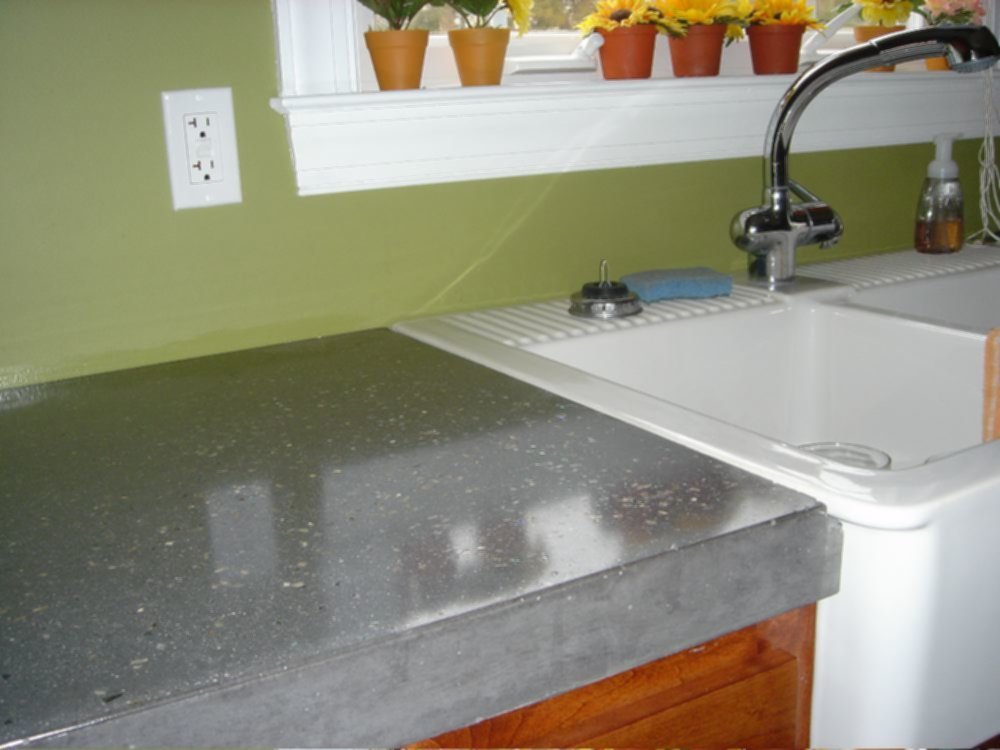 Image of: Polished Concrete Countertops Cost