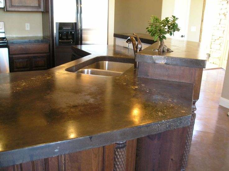 Image of: Polished Concrete Countertops Diy