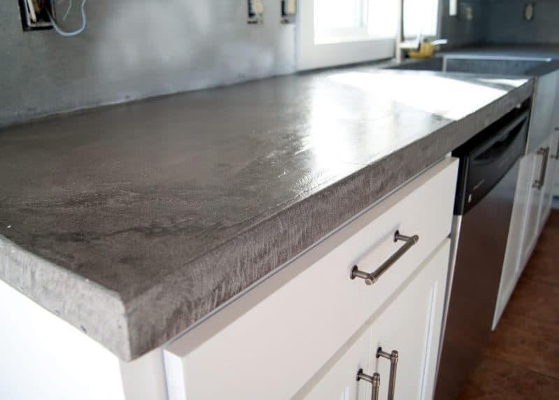 Image of: Polished Concrete Countertops Images