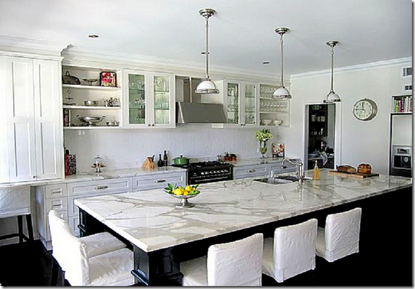 Image of: Popular Marble Kitchen Countertops