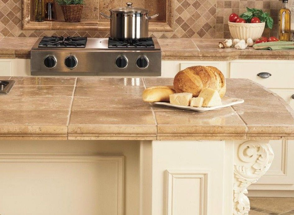 Image of: Porcelain Tile Kitchen Countertops