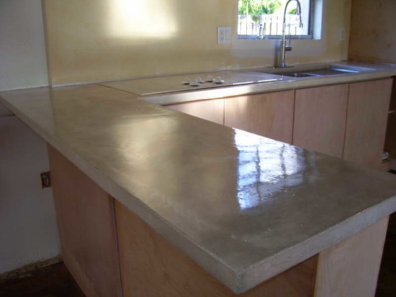 Image of: Pour In Place Concrete Countertop Kits