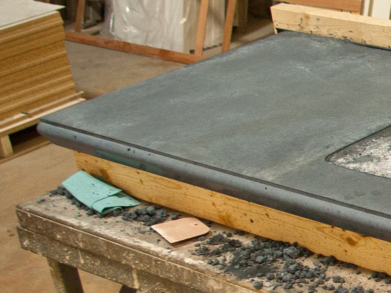Image of: Poured Concrete Countertops Forms
