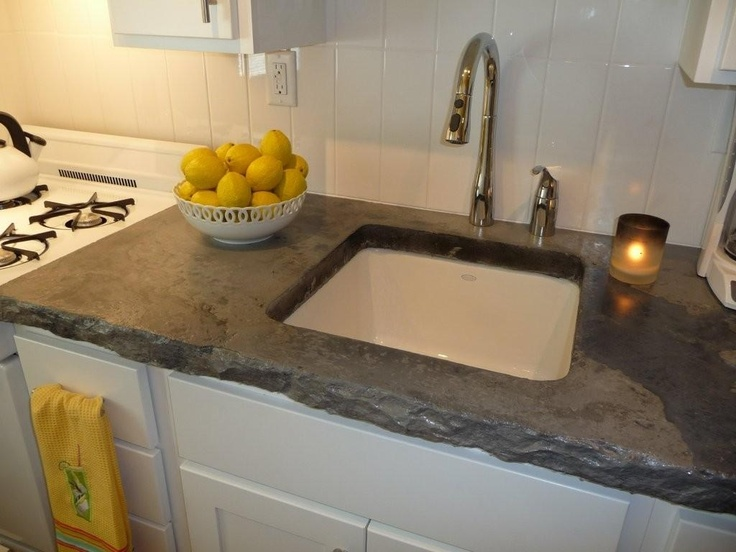 Image of: Poured Concrete Countertops Images