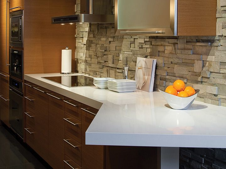 Image of: Quartz Tile Countertop Ideas