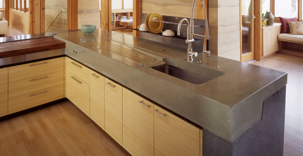 Image of: Stained Concrete Countertops Photos