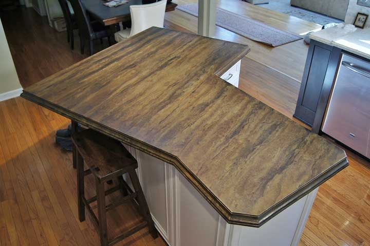 Image of: Stained Concrete Countertops Pictures