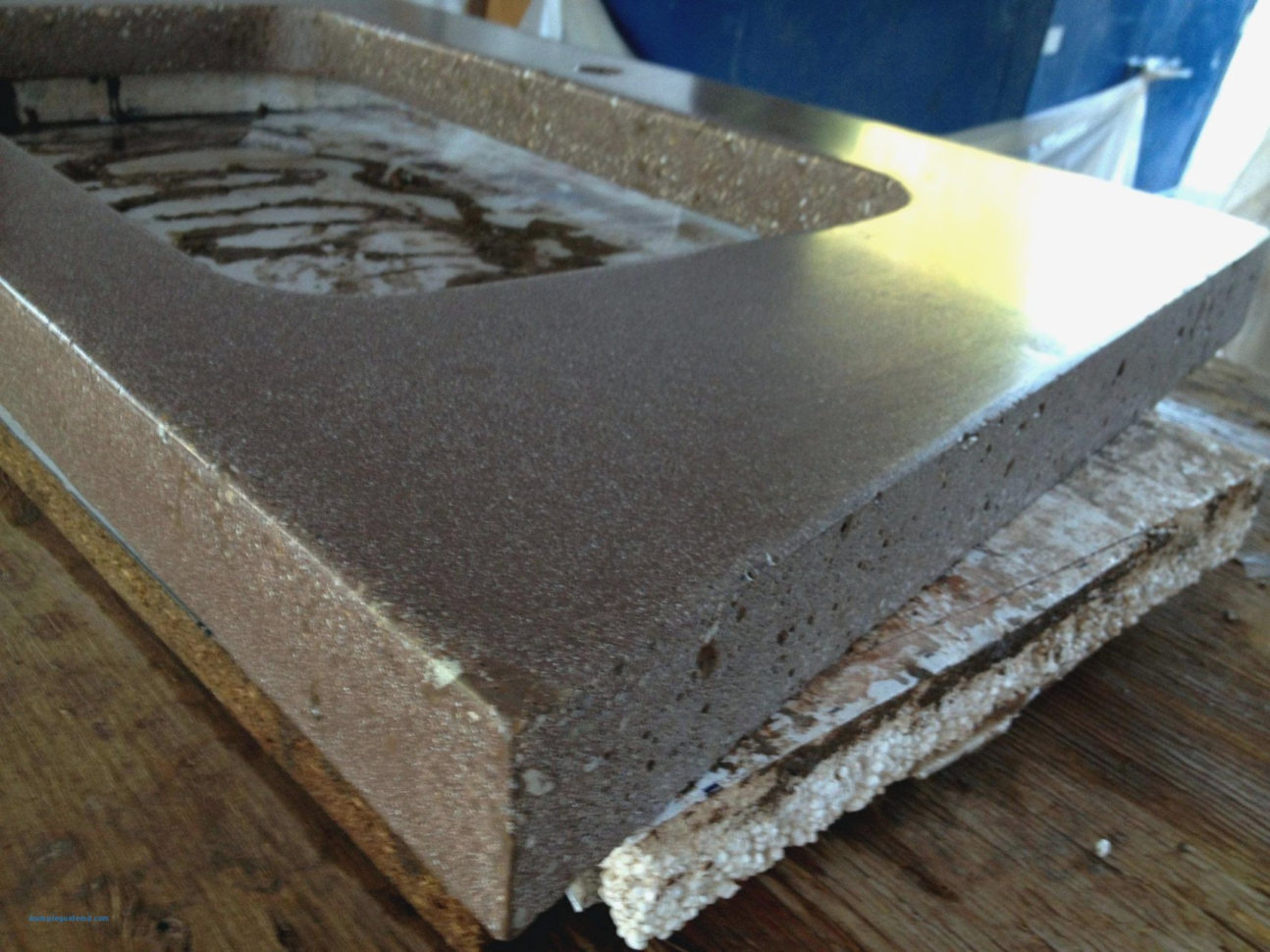 Image of: Foam Countertop Forms Will Be A Thing Of  Form Information throughout Concrete Countertop Forms