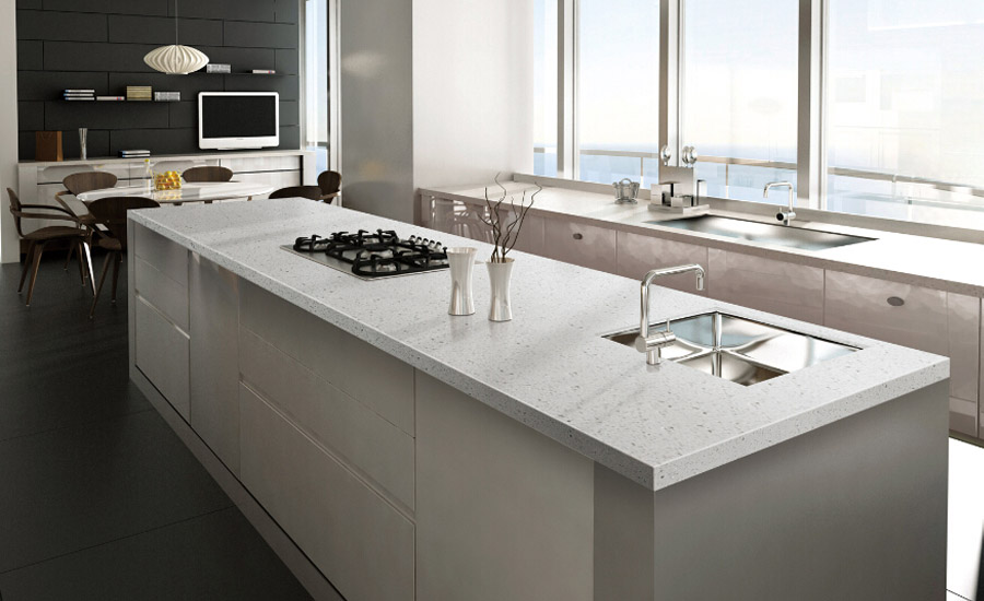 White Quartz Kitchen Countertops Decors
