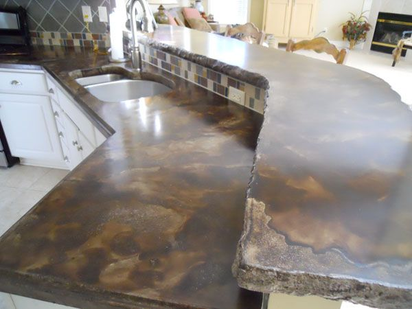 Image of: Acid Stained Concrete Countertop Colors
