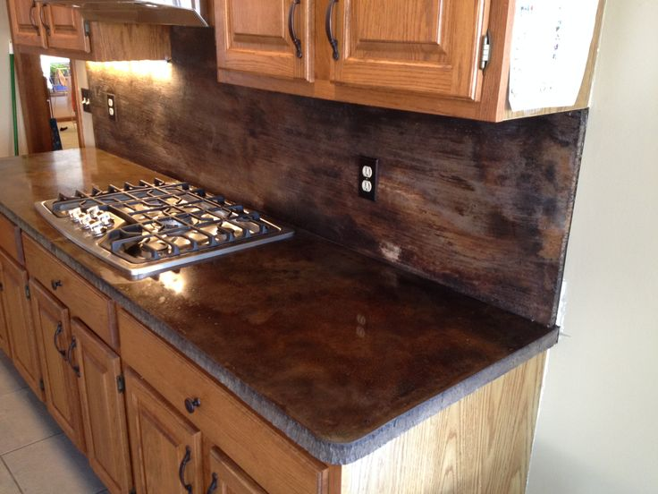Image of: Best Concrete Countertop Acid Stain