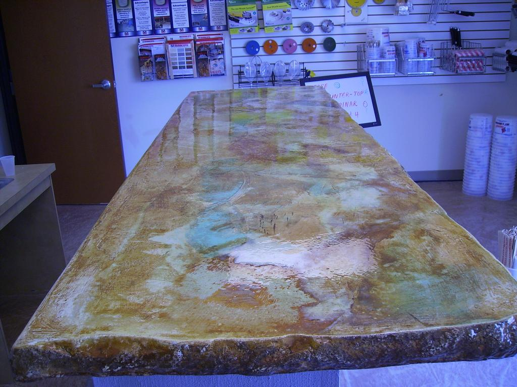 Image of: Concrete Countertop Acid Staining